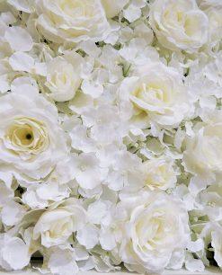 dettaglio fiori ortensie rose bianche