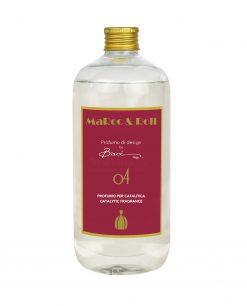 fragranza per diffusori catalitici famiglia olfattiva orientale 500 ml baci milano