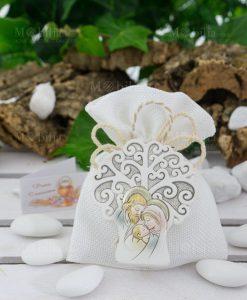 icona albero della vita sacra famiglia su sacchetto portaconfetti