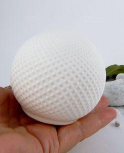 lampada sfera led porcellana su mano