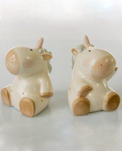 lampada unicorno porcellana beige 1