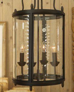 lampadario cilindrico metallo nero