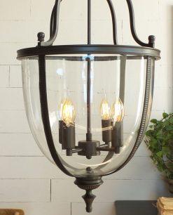 lampadario vetro soffiato e metallo