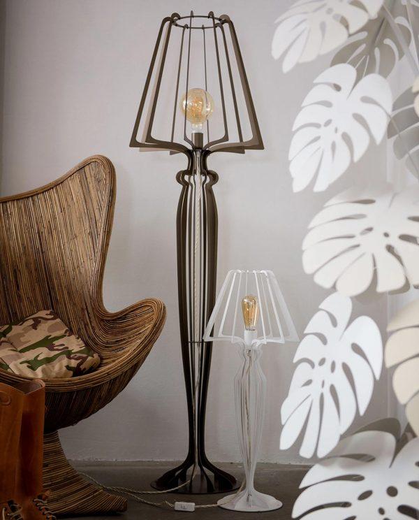 lampada minerva fango ambientata salotto