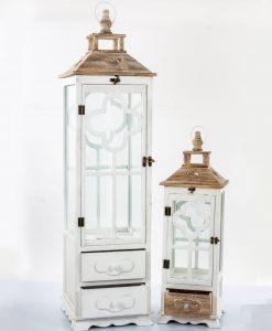 lanterne legno bianche