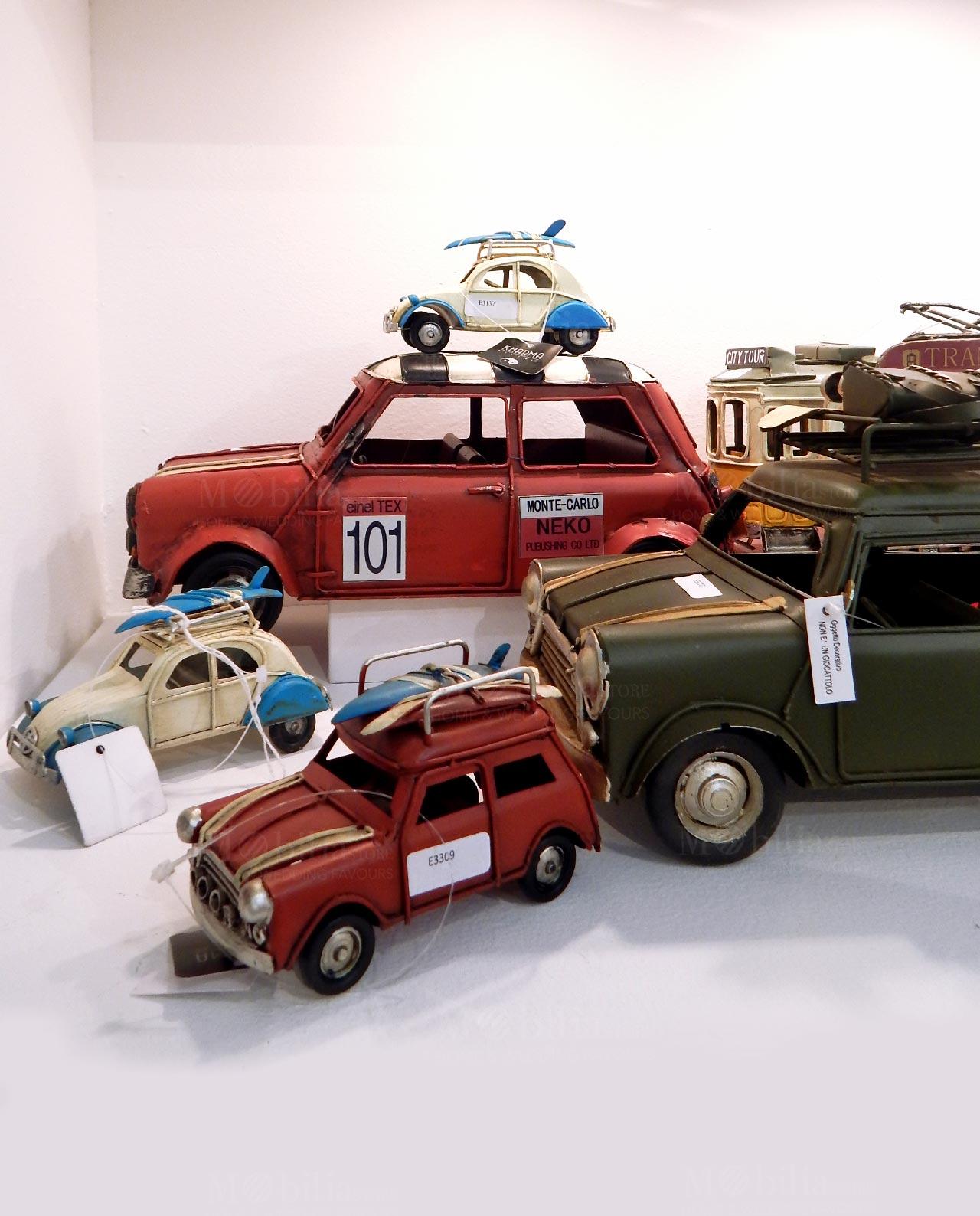 giocattolo macchina sposini latta anni 70