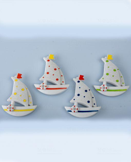 magnete barca a vela 4 colori