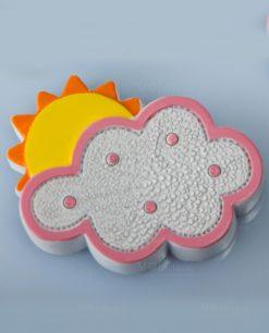 magnete nuvoletta rosa con sole