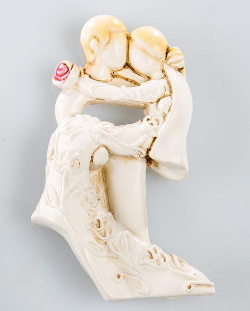 magnete sposo sposa con rosa