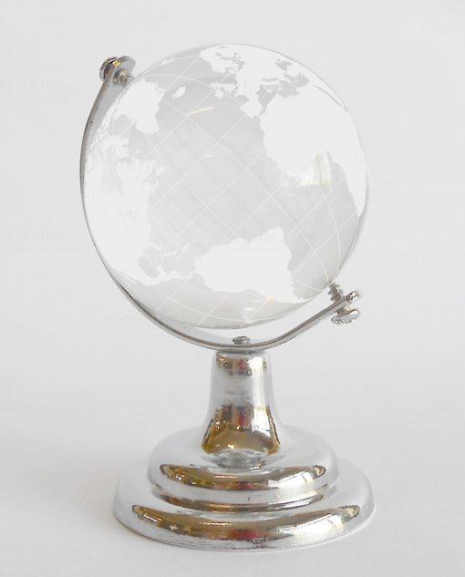 mappamondo in cristallo