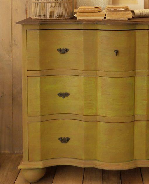 mobile 3 cassetti legno massello verde