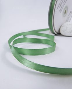 nastro doppio raso 1 cm salvia bobina 50mt