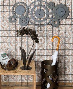 orologio da parete foto ambientata modello meccano