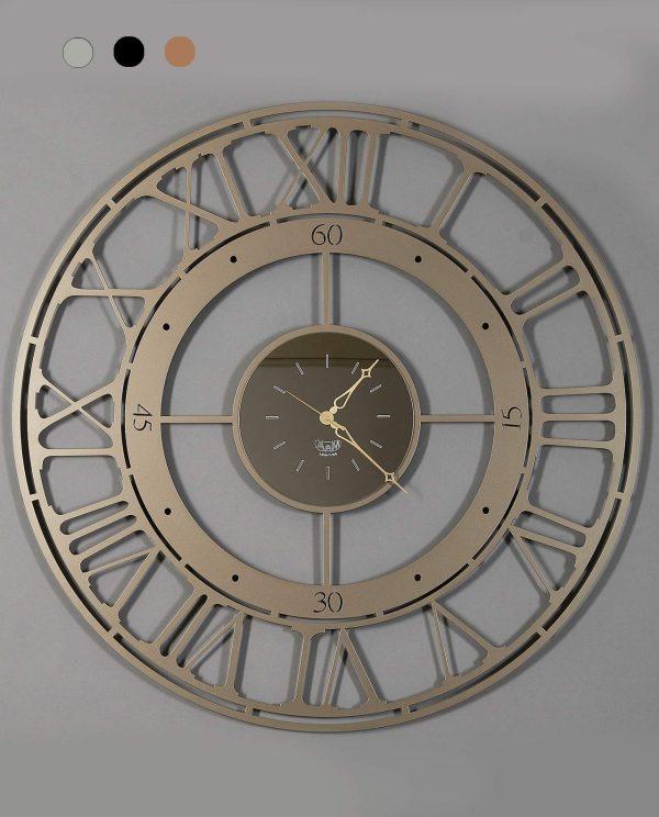 orologio modello koros90 rotondo con numeri romani arti e mestieri