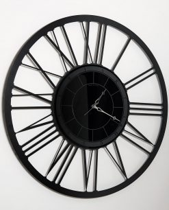 orologio da parete modello big lux colore nero arti e mestieri