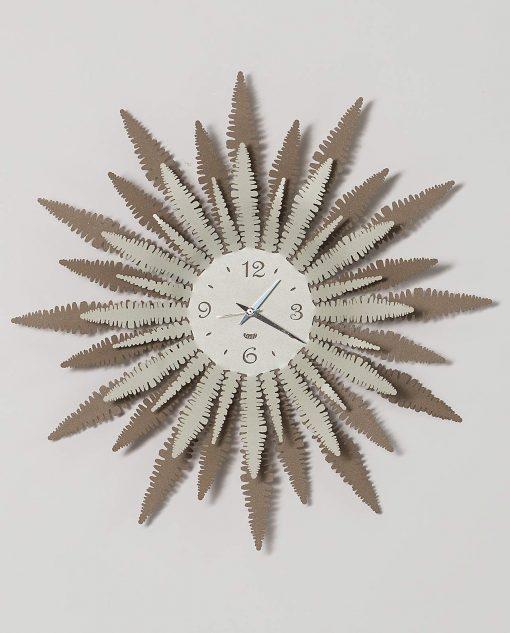 orologio da parete modello felce colori beige e avorio arti e mestieir