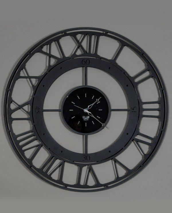orologio rotondo con numeri romani colore nero