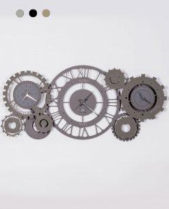 orologio da parete modello meccano colore ardesia e fango arti e mestieri