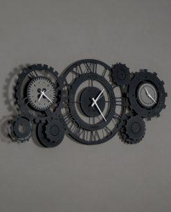 orologio da parete modello meccano colore nero arti e mestieri