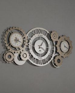 orologio da parete modello meccano colore sabbia e bronzo arti e mestieri