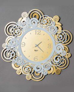 orologio da parete modello orfeo colore bianco e oro arti e mestieri
