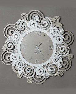 orologio da parete modello orfeo colori beige e bianco arti e mestieri