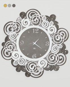 orologio da parete modelloorfeo colore fango e bianco arti e mestieri