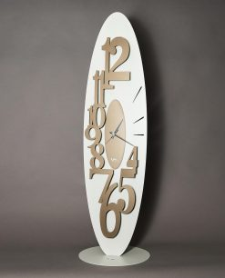 orologio da terra ovale con numeri grandi modello corel colore bronzo e avorio arti e mestieri