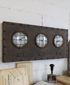 orologio rettangolare finitura ferro ruggine