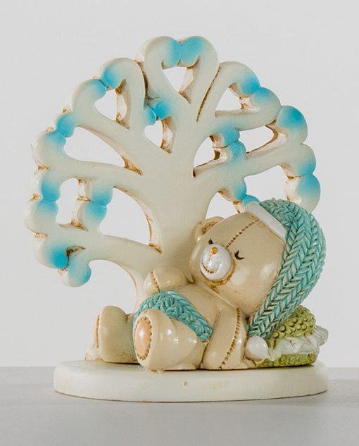 orsetto con albero della vita azzurro