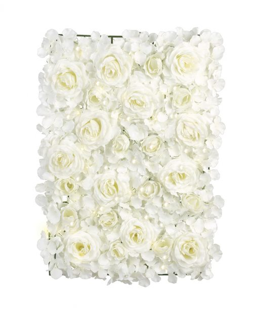 pannello ortensie rose avorio con luci led