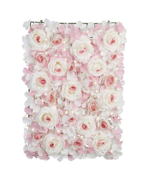 pannello ortensie rose rosa con luci led