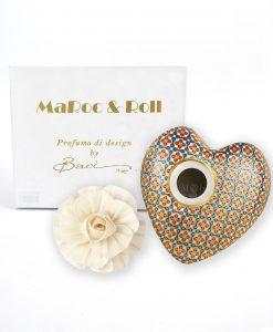 profumatore a forma di cuore in porcellana sting da 300 ml baci milano maroc e roll i love