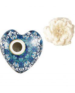 profumatore per ambienti cuore beatrice in porcellana 170 ml baci milano i love