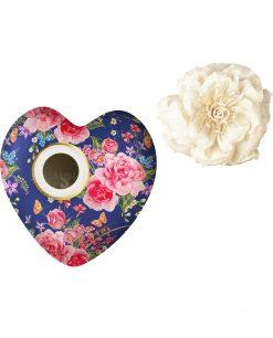 profumatore per ambienti cuore garden in blu in porcellana 170 ml baci milano i love