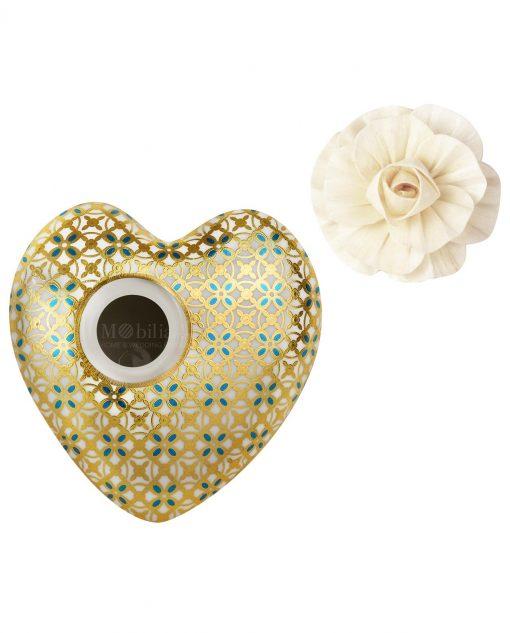 profumatore per ambienti cuore jacko in porcellana 300 ml baci milano i love
