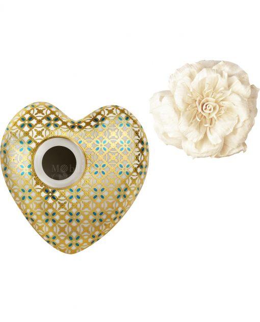 profumatore per ambienti cuore jacko in porcellana baci milano i love