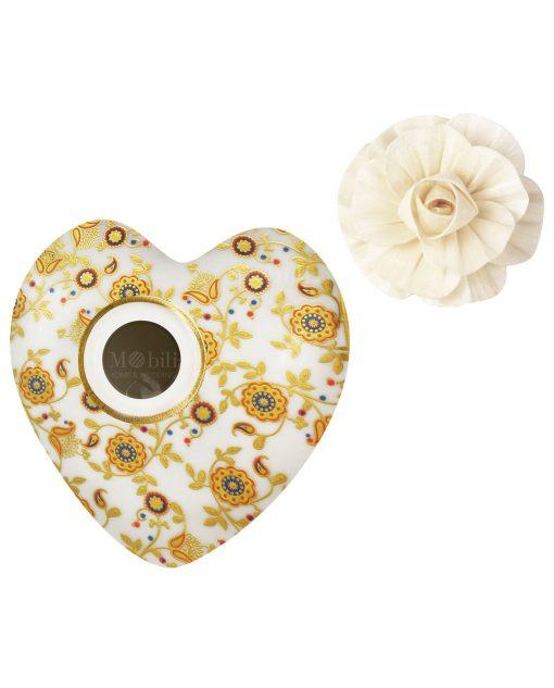 profumatore per ambienti cuore tina in porcellana 300 ml baci milano i love
