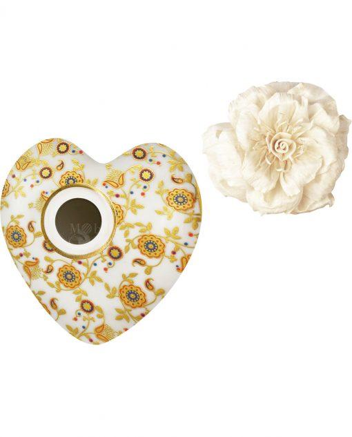 profumatore per ambienti cuore tina in porcellana baci milano i love