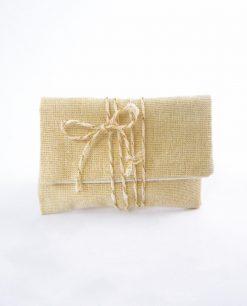 sacchettino bustina con strappo juta e fiocco cordoncino