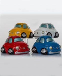 salvadanaio macchina 500 decorativa 4 colori assortiti