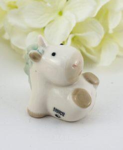 sculturina unicorno sdraiato porcellana