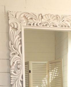 specchio grande legno di mango massello intagliato