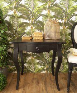 tavolino rettangolare con 1 cassetto legno mindi nero