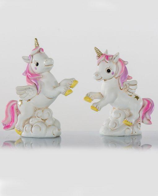 unicorno bianco e rosa
