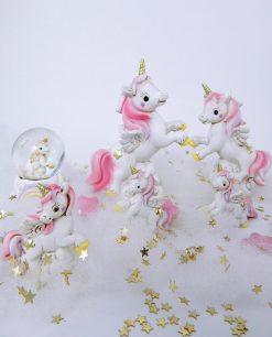 unicorno rosa per bomboniera