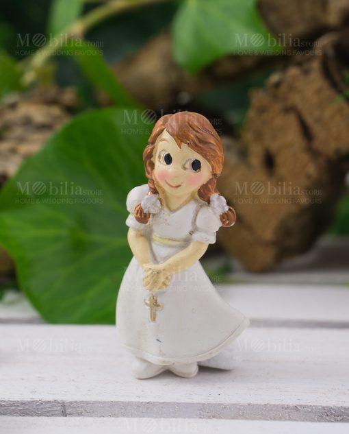 Calamita bimba con vestito e rosario