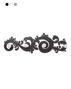 appendiabiti da parete modello classic colore nero arti e mestieri