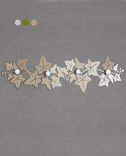 appendiabiti da parete modello edera colore beige arti e mestieri