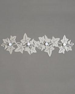 appendiabiti da parete modello edera colore grigio chiaro sabbia arti e mestieri